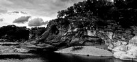 Perdenales Falls State Park - Black and White